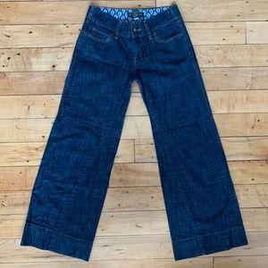 Banana Republic wide-leg jeans size 2